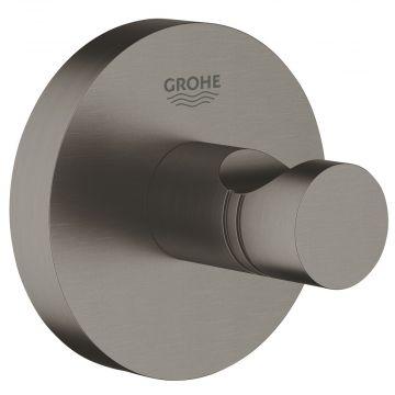 GROHE Essentials handdoekhaak, geborsteld hard graphite