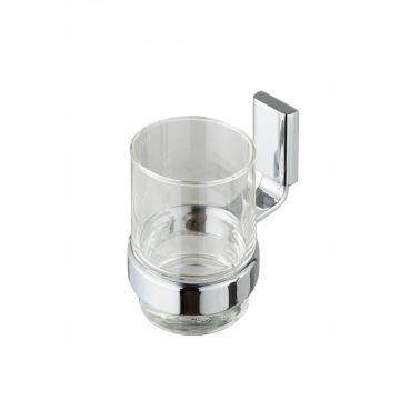 Geesa Aim glashouder met glas, chroom