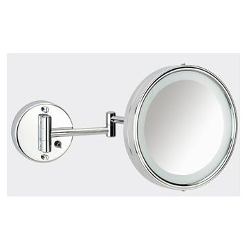 Plieger Basic make-up spiegel met LED-verlichting en zwenkbaar met schakelaar 19 cm, chroom