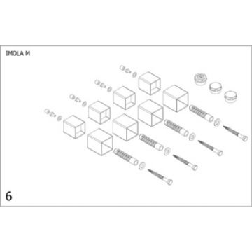 Plieger Imola M bevestigingsset designradiator, wit