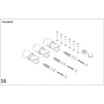 Plieger Palermo bevestigingsset designradiator, chroom