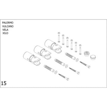 Plieger bevestigingsset designradiator Palermo-Vulcano-Vela-Xilo, wit