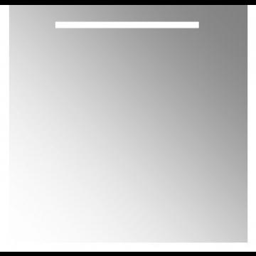 Plieger Uno spiegel met LED-verlichting met schakelaar en verwarming 80x80 cm