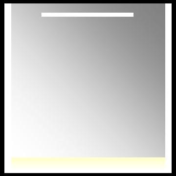 Plieger Uno Plus spiegel met LED-verlichting met schakelaar en verwarming 80x80 cm