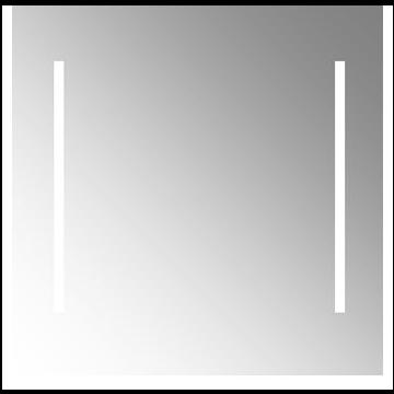 Plieger Duo spiegel met verticale LED-verlichting met schakelaar 80x80 cm