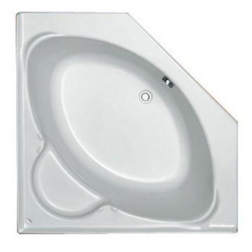 Plieger Contour compact hoekbad acryl vijfhoekig 125x125x42 cm met poten, wit