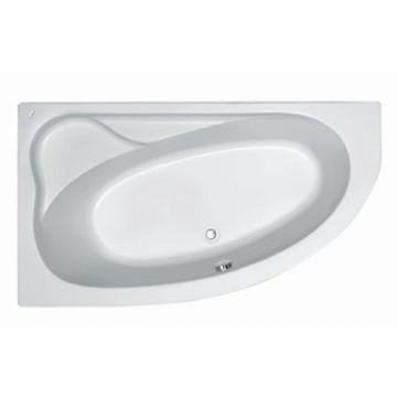 Plieger Cyprus hoekbad acryl ruimtebesparend 160x90x43,5 cm links m poten wit