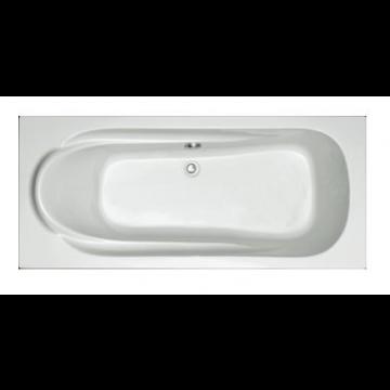 Plieger Spring kunststof bad acryl rechthoekig 170x75 cm m poten wit