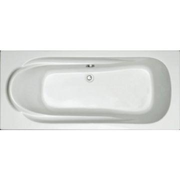 Plieger Spring kunststof bad acryl rechthoekig 180x80 cm m poten wit