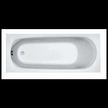 Plieger Basic solobad acryl 170x70x37 cm m poten wit