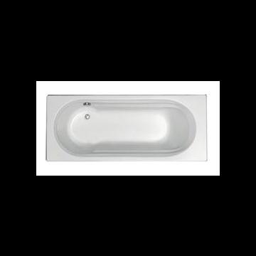 Plieger Queen solobad acryl met geïntegreerd douchegedeelte 170x70x43 cm m poten wit