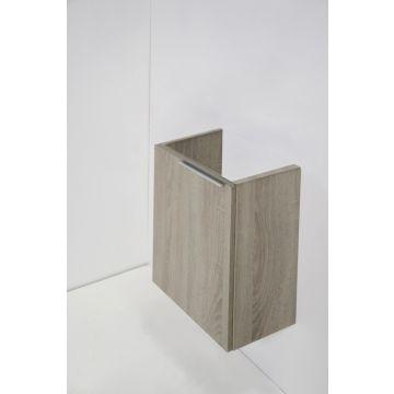 Sub fonteinonderkast universeel links-/rechtsdraaiende deur, zand eiken