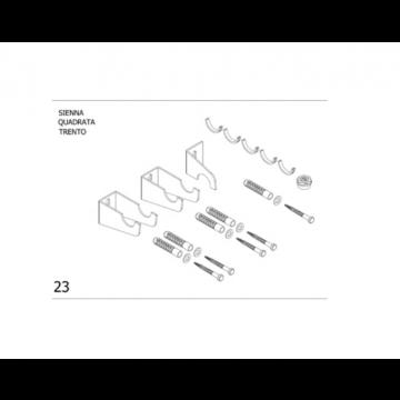 Plieger bevestigingsset designradiator enkel Siena-Quadrata, wit