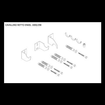 Plieger Cavallino Retto bevestigingsset designradiator enkel breedte 298 mm, wit