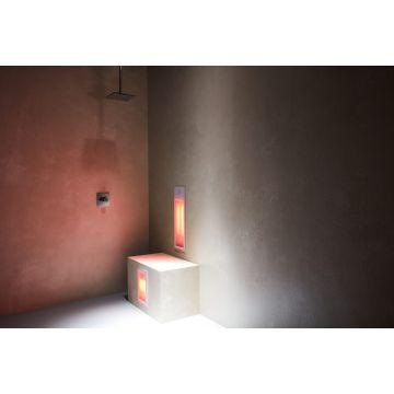 Sunshower Duo half/full body inbouwmodel infrarood 62x20x10 cm en 32x20x10 cm, wit