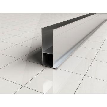 Wiesbaden verbredingsprofiel 3x200 cm, aluminium