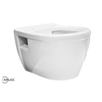 Wiesbaden Prio hangend toilet rimless, wit