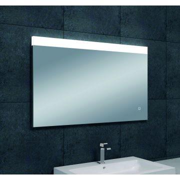 Wiesbaden Single spiegel met LED-verlichting met spiegelverwarming 100x60 cm
