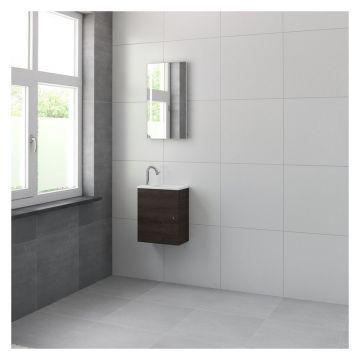 Bruynzeel Pocco fonteinset 40 cm met keramiek wastafel inclusief spiegel, gladstone