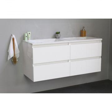 Sub Online badmeubelset met wastafel zonder kraangat (bxlxh) 120x46x55 cm, hoogglans wit / glans wit