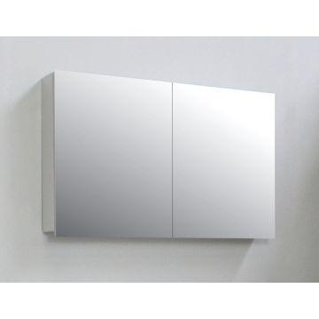 Sub Online spiegelkast met 2 deuren en spiegels aan de binnenzijde van de deuren 60 x 97 x 14 cm, grijs
