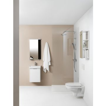 Laufen PRO Pack hangend toilet diepspoel rimless, met toiletzitting SlimSeat, wit