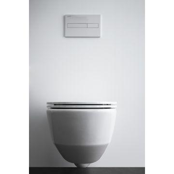 Laufen PRO Pack compact hangend rimless toilet diepspoel, met toiletzitting SlimSeat, wit