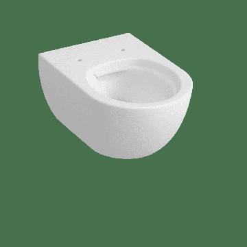 Sub 010 hangend toilet spoelrandloos, mat wit