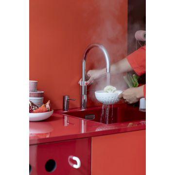 Quooker keukenmengkraan Fusion Round voorsprong uitloop 220 mm, chroom