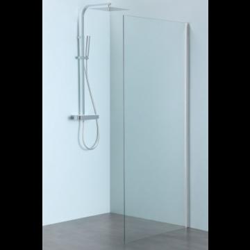 Sub 061 zijwand 100x200 cm., clean-glas, rvs gepolijst profiel