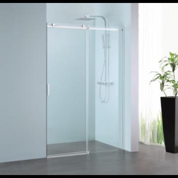 Sub 061 schuifdeur 140x200 cm., rechts, clean-glas, profiel rvs gepolijst