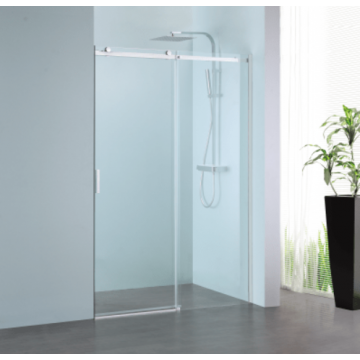Sub 061 schuifdeur 160x200 cm., rechts, clean-glas, profiel rvs gepolijst