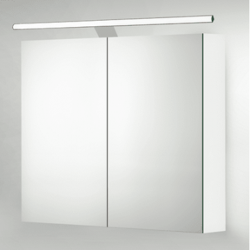 Sub 129 led verlichting 80 mm voor spiegelkast met driver, chroom