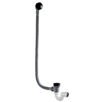 Sub 016 verlengde badwaste met clickmechanisme, zwart
