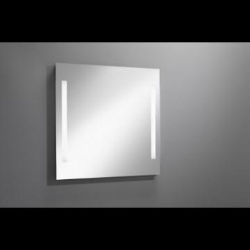 Sub 129 spiegel met verticale LED-verlichting 80x80 cm
