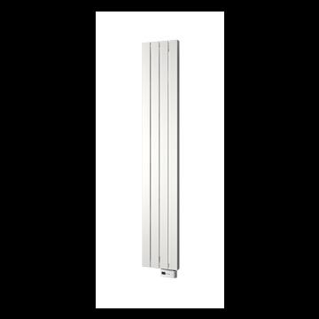 Plieger Cavallino Retto-EL II/Fischio designradiator elektrisch verticaal met wit verwarmingselement 1800x298 mm 800 W, wit