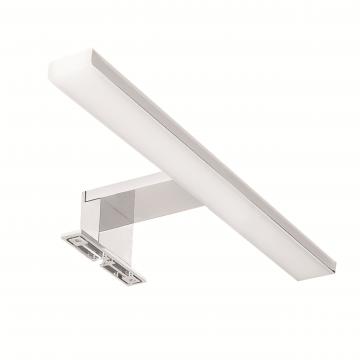 Sub spiegellamp met led-verlichting warm met geïntegreerde trafo 30 cm, chroom-wit