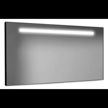 LoooX Black Line spiegel met LED-verlichting 120x60 cm, zwart