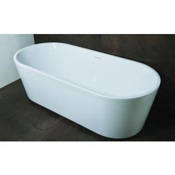 Luca Sanitair Primo vrijstaand bad inclusief afvoerset chroom 178 x 80 x 56 cm, glanzend wit