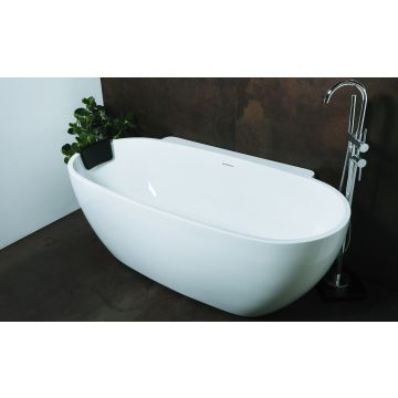Luca Sanitair back to wall bad rond 175x85x60 cm, wit glans