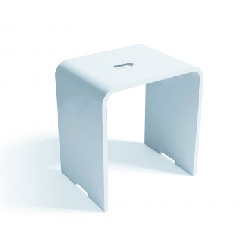 Luca sanitair Luva badkamerkrukje van solid surface 42 x 30 x 43 cm, mat wit
