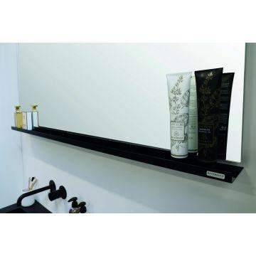 Riverdale stalen planchet t.b.v. rechthoekige spiegel 140x10 cm, mat zwart
