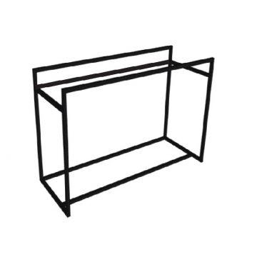 Riverdale stalen frame t.b.v. wastafel, onderkast afdekplaat en designplateau 140x70x45 cm, mat zwart
