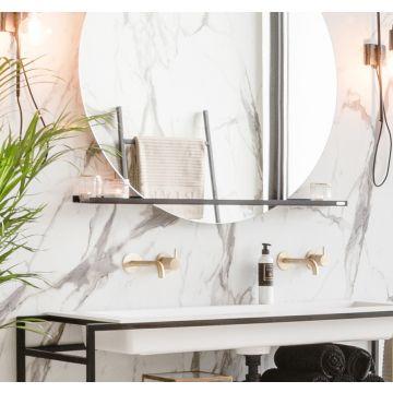 Riverdale stalen planchet t.b.v. ronde spiegel 70x10 cm, mat zwart