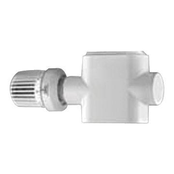 Radson ventielkompakt regel/aansluiting-set tweepijps ventielset haaks, wit