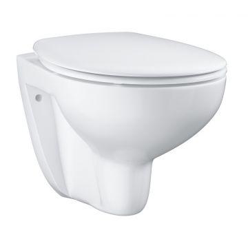 GROHE Bau Ceramic hangend toilet randloos met toiletzitting softclose, Alpine wit