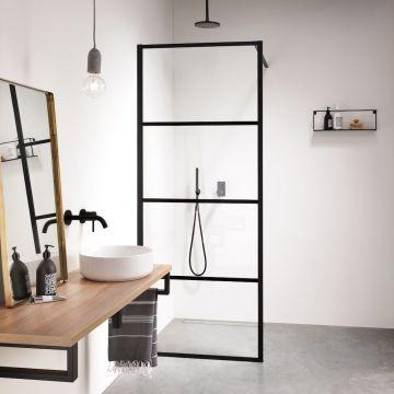 Sealskin Soho inloopdouche type A3 100x210 cm, zwart-helder glas