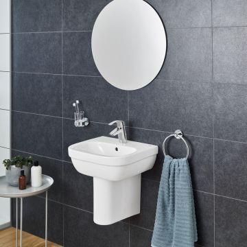 GROHE Euro Ceramic sifonkap voor toiletruimte wastafels, hangend, Glanzend porselein, Alpine Wit