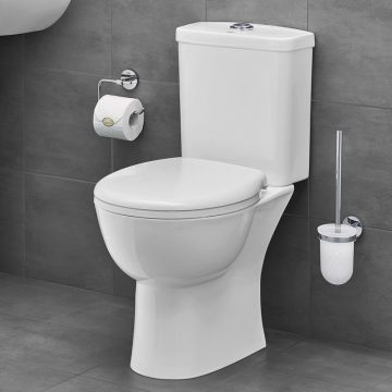 GROHE Bau Ceramic wc-pakket duoblokcombinatie PK inclusief toiletzitting met softclose, Alpine wit