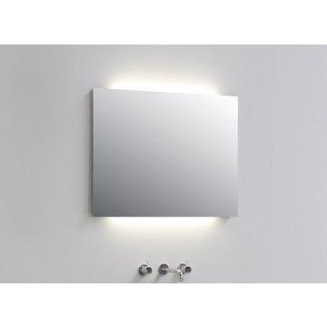 Sub Top spiegel rechthoek indirecte ledverlichting boven en onder 60x3x60cm, aluminium